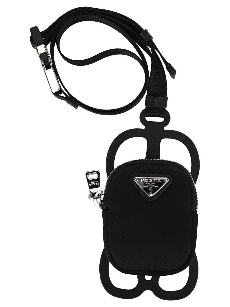 Prada Zip Phone Case - BLACK