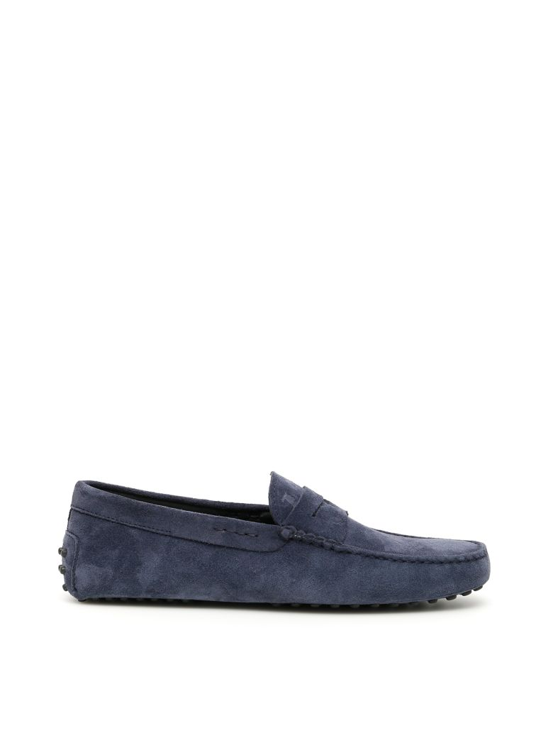 Tod's Suede Gommino Loafers - BLUE (Blue)