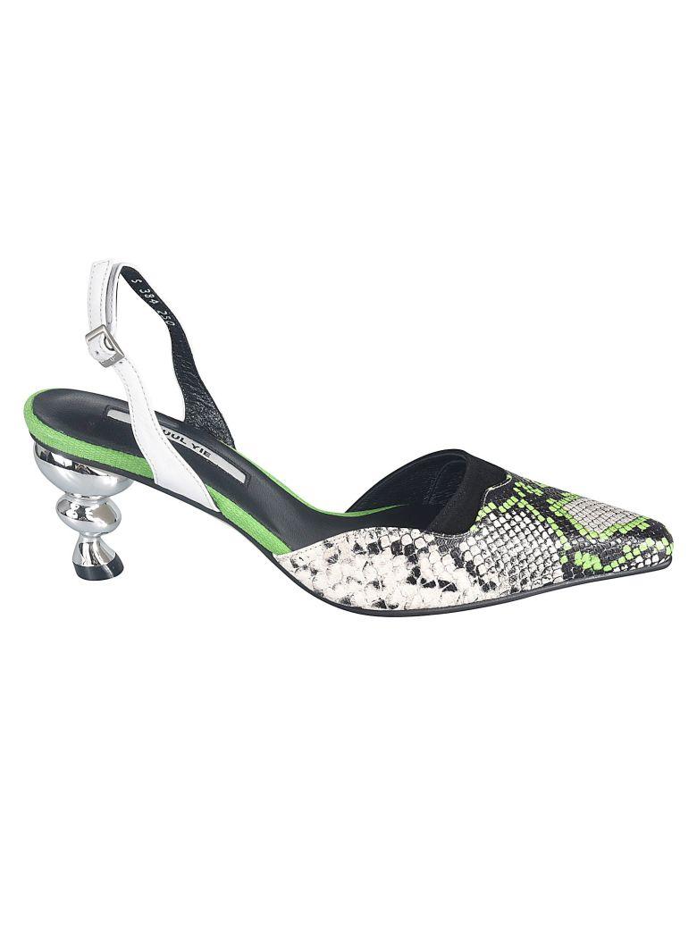 Yuul Yie Snake-skin Pumps - Verde/multi