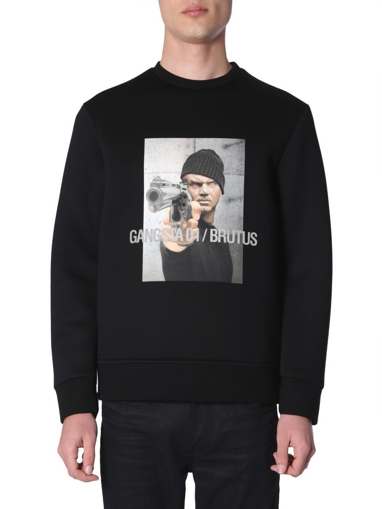 Neil Barrett Gangsta 01 / Brutus Printed Sweatshirt - NERO