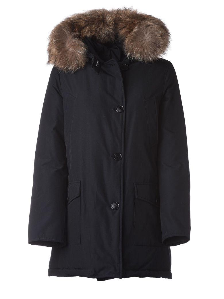 Woolrich Dark Blue Padded Coat - Blu