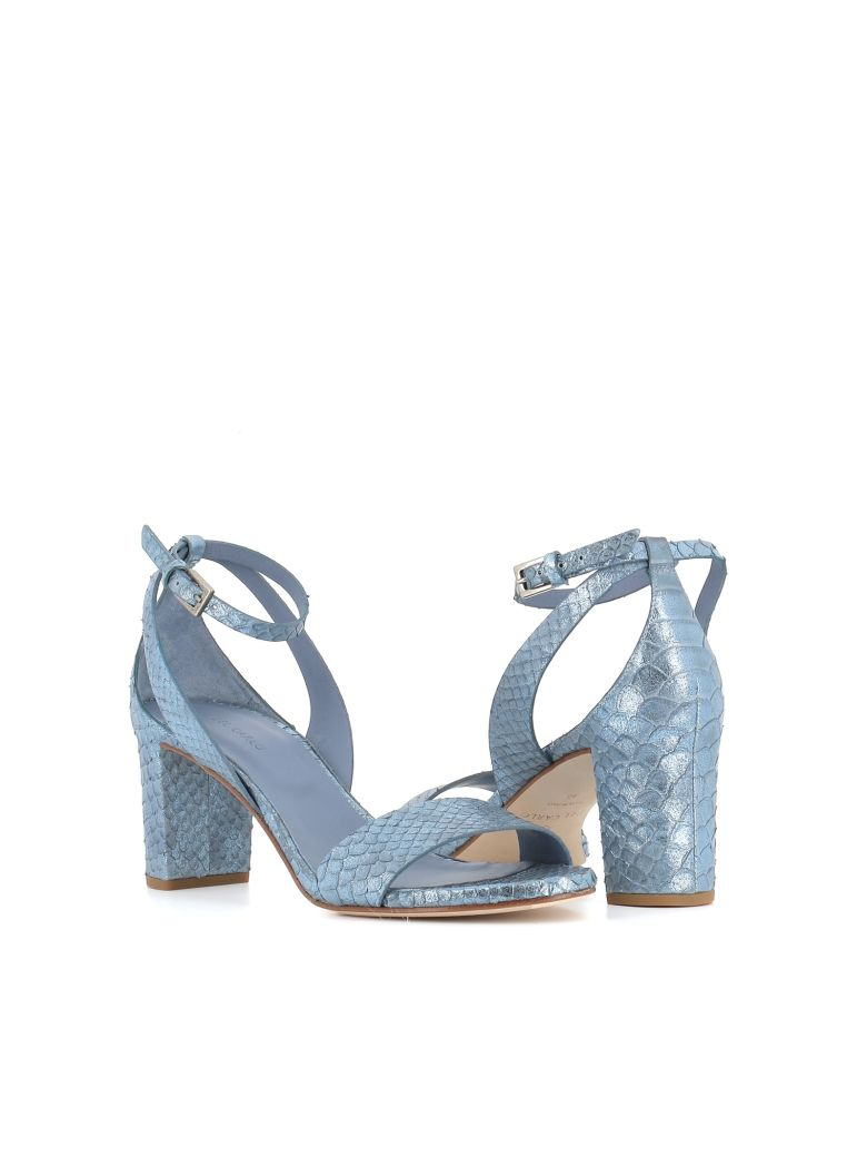 "Roberto del Carlo Sandals ""10736"" - Light blue"