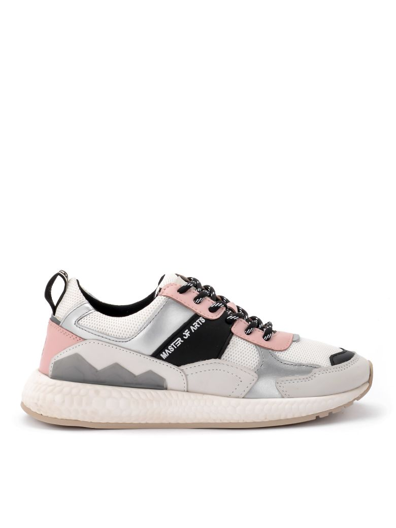 M.O.A. master of arts Multi-material White And Pink Moa Sneakers - MULTICOLOR