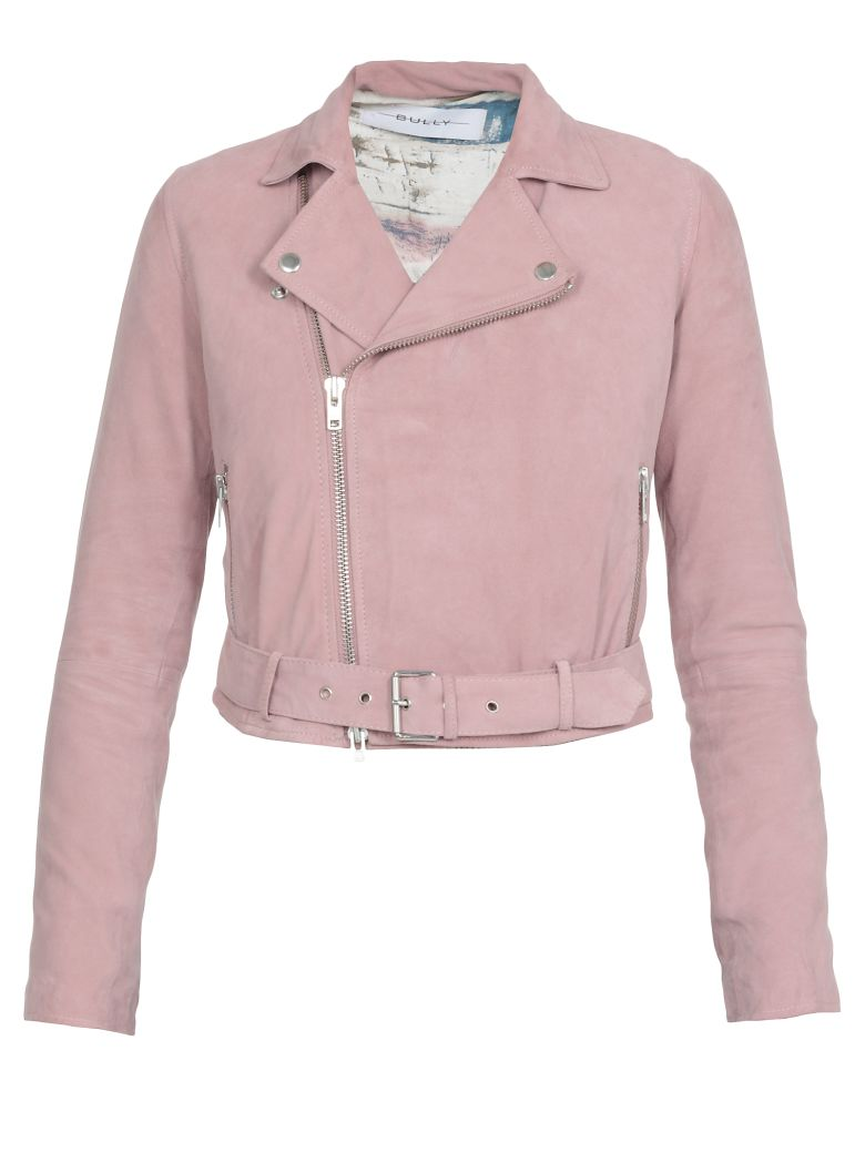 Bully Leather Studded Jacket - Pink