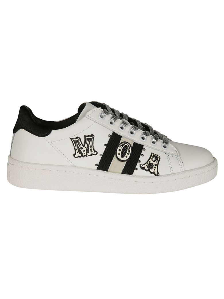 M.O.A. master of arts Logo Patch Sneakers - White