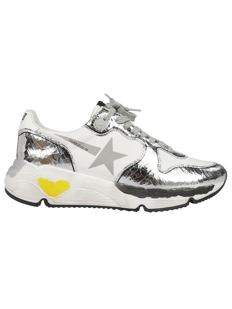 Golden Goose Running Sneakers - White Silver