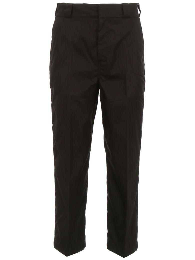Prada Linea Rossa Nylon Gabardine Trousers - NERO|Nero