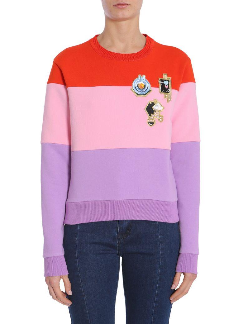 Carven Round Collar Sweatshirt - MULTICOLOR