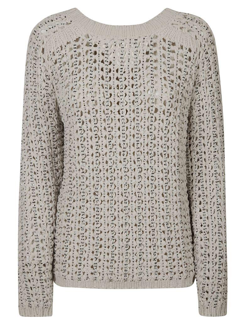 Ermanno Scervino V-neck Knitted Sweatshirt - Grey