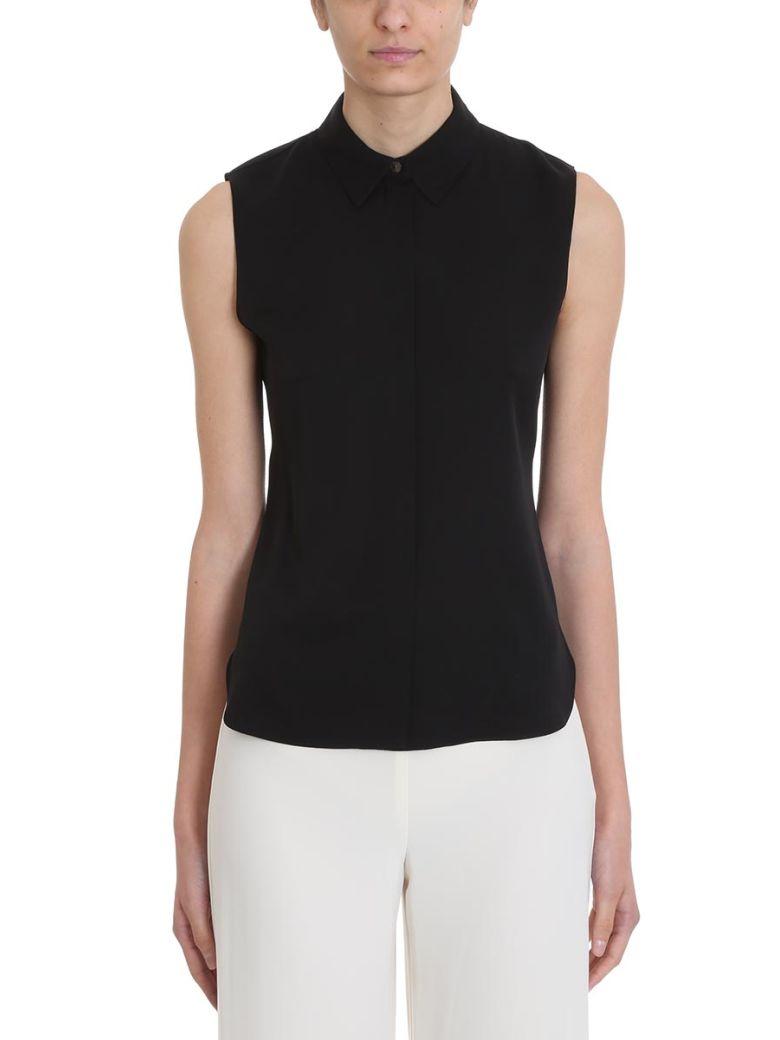 Theory Sleeveless Classic Collar Shirt - black