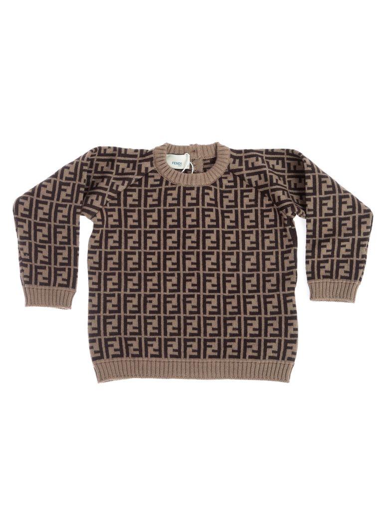 Fendi Kids Double F All-over Knit Sweatshirt