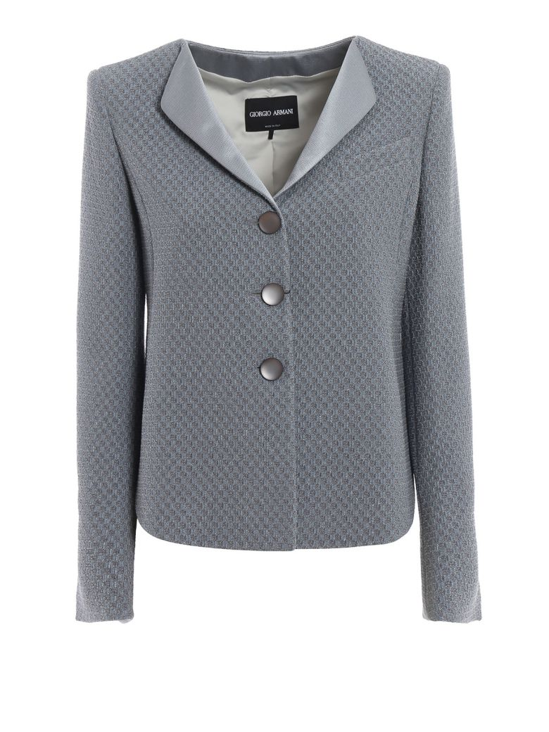 Giorgio Armani Checkerboard Jacquard Jacket - Basic