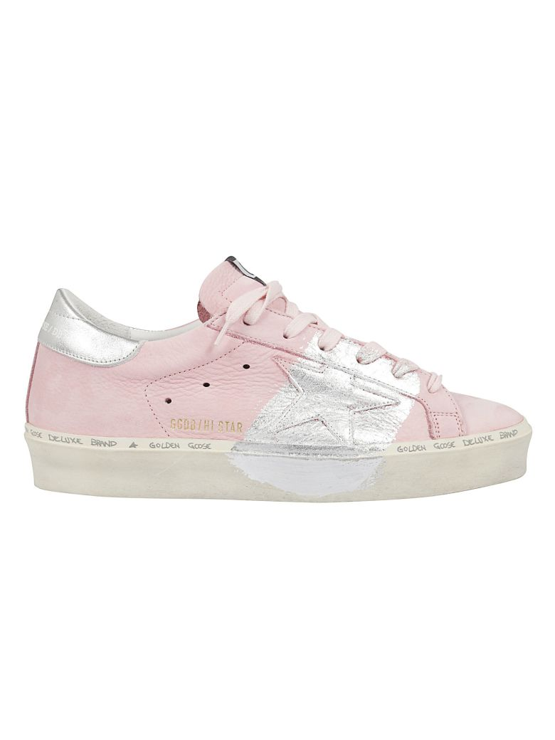 Golden Goose Superstar Spray Paint Effect Sneakers - Silver Leaf