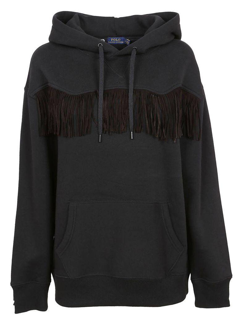 Ralph Lauren Fringe Sweater - Black
