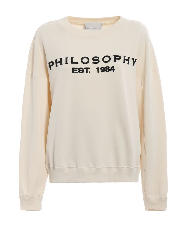 Philosophy di Lorenzo Serafini Philosophy Embroidered Logo Sweatshirt - Bianco