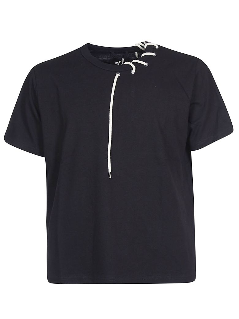 Craig Green String Neck T-shirt - Nero
