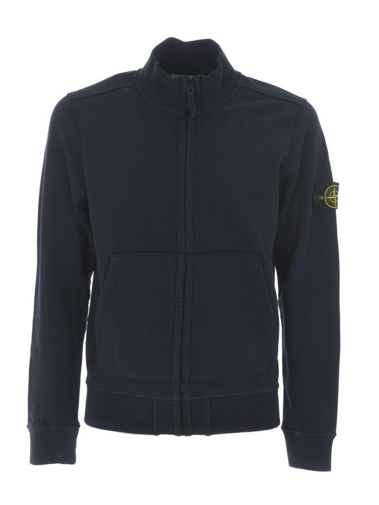 Stone Island Zip-up Jacket - Blu scuro