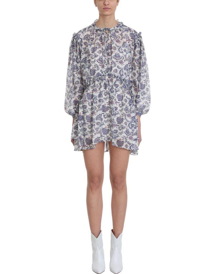 Isabel Marant Paisley Nydia Short Dress - beige