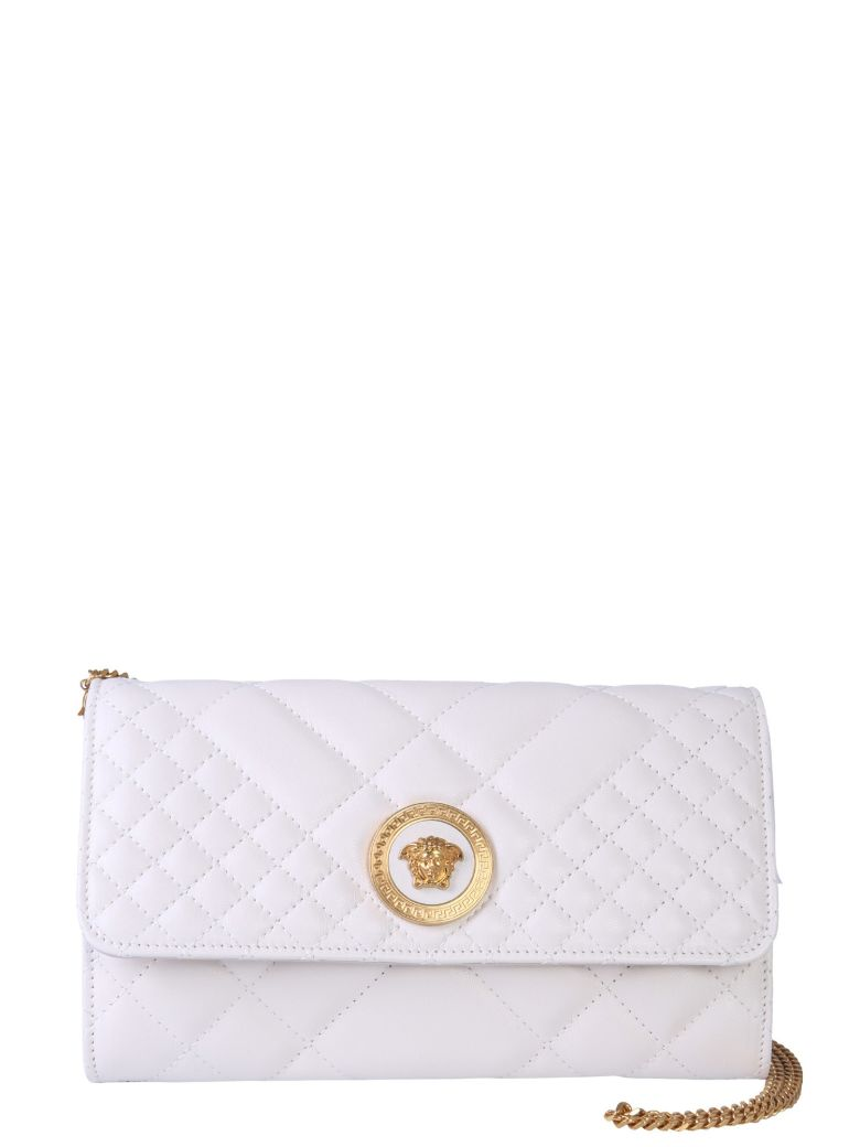 Versace Mini Quilted Leather Bag - BIANCO