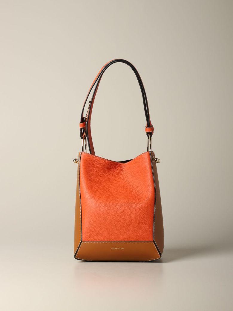 Strathberry Shoulder Bag Strathberry Wool Midi Bag In Patchwork Leather - burgundy