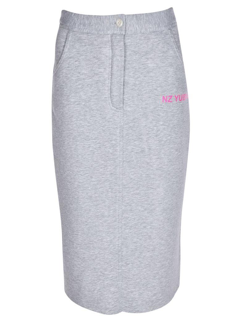 Natasha Zinko Button Jersey Skirt - GREY