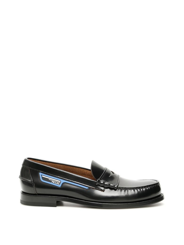 Prada Logo Loafers - NERO VOYAGE (Black)
