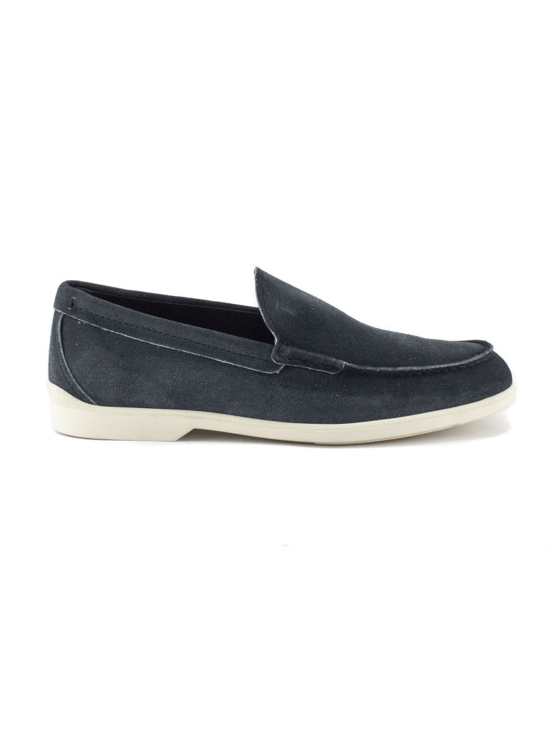 Tod's Loafers In Light Blue Suede Leather - Azzurro