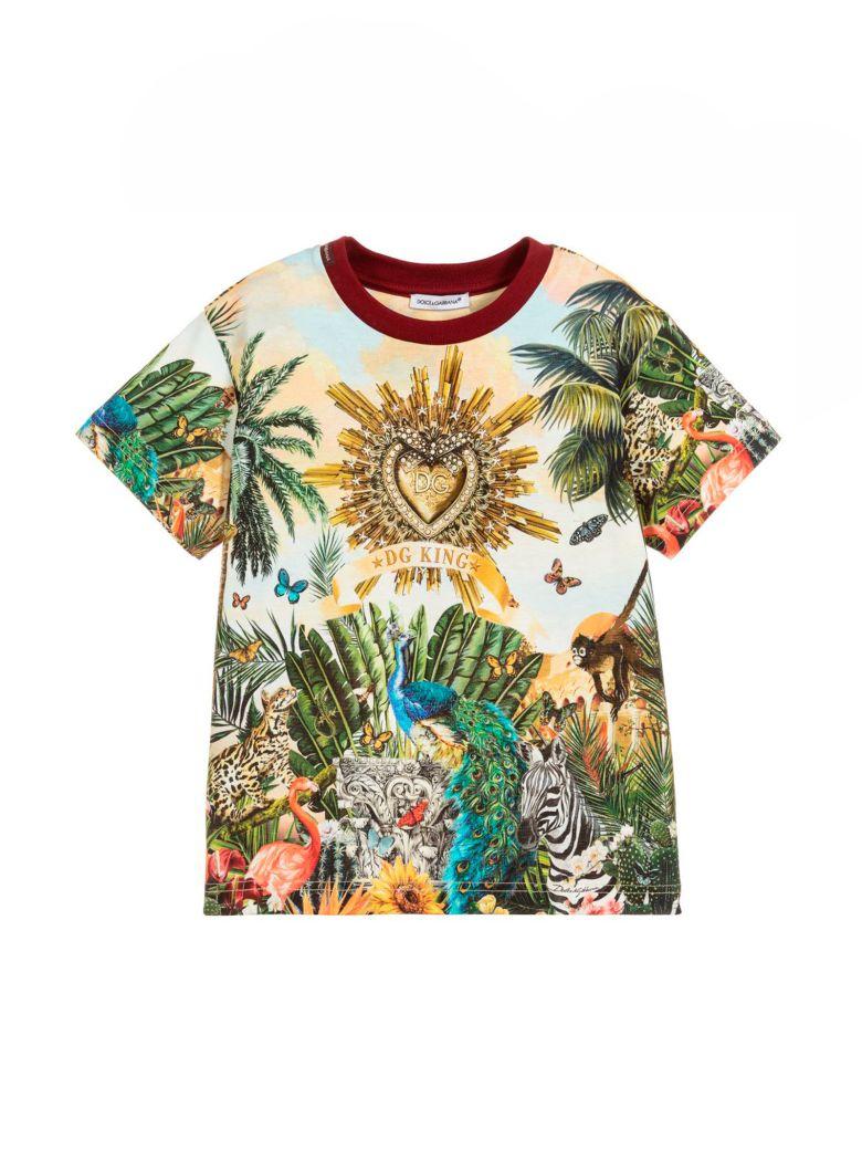 Dolce & Gabbana White T-shirt Dolce E Gabbana Kids - Multicolor