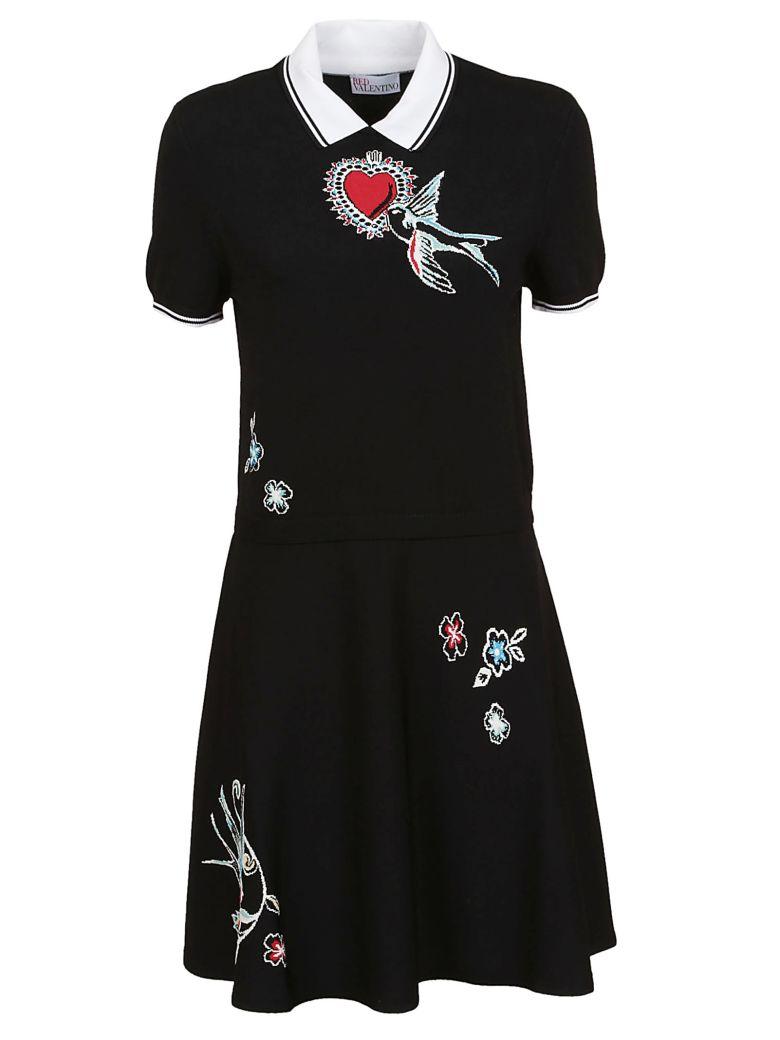 RED Valentino Embroidered Dress - No Nero