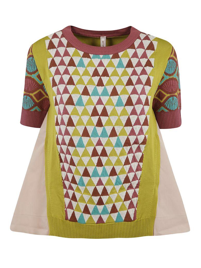 Antonio Marras Shell Sleeve Knit Short-sleeve Sweater - Light Pink