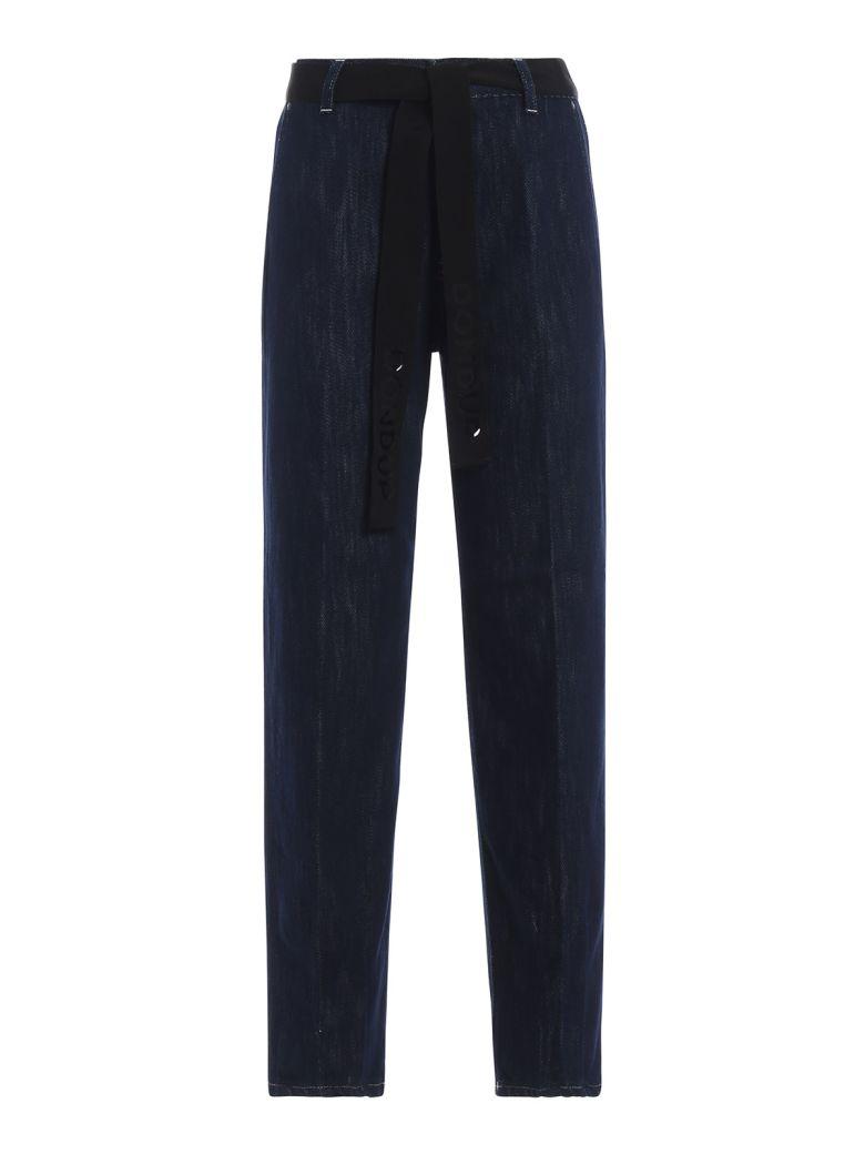 Dondup Marika Wide Fit Belted Jeans - Denim