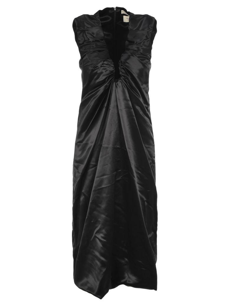 Bottega Veneta Ruched Dress - BLACK