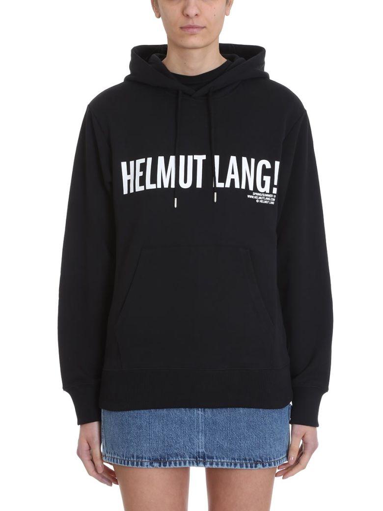 Helmut Lang Exclamation Black Logo Hoodie Sweatshirt - Black