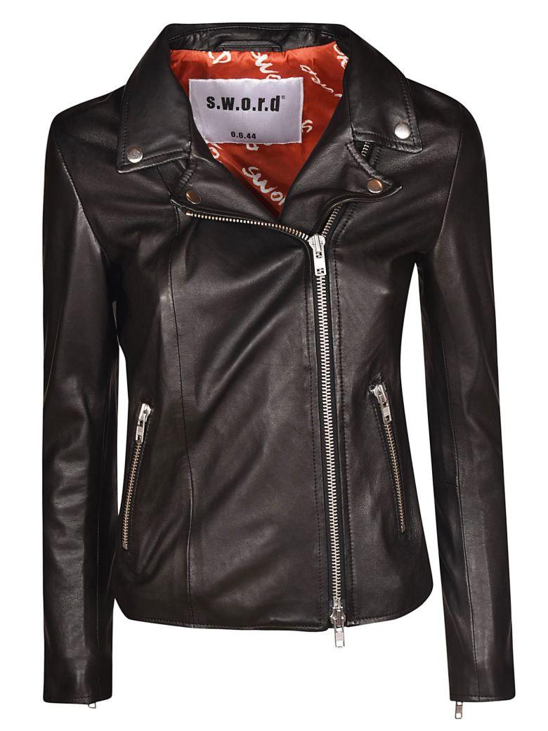 S.W.O.R.D 6.6.44 Classic Zipped Biker Jacket - Black