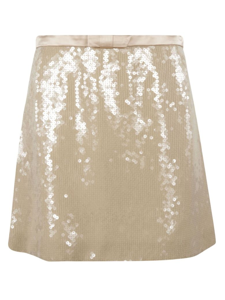 Miu Miu Glittery Skirt - ALBINO