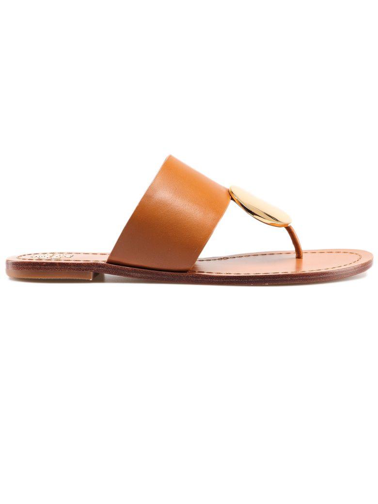 Tory Burch Disc Thong Sandals - Tan