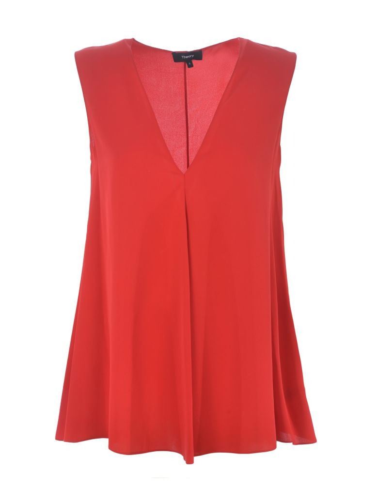 Theory A-line Top - Rosso
