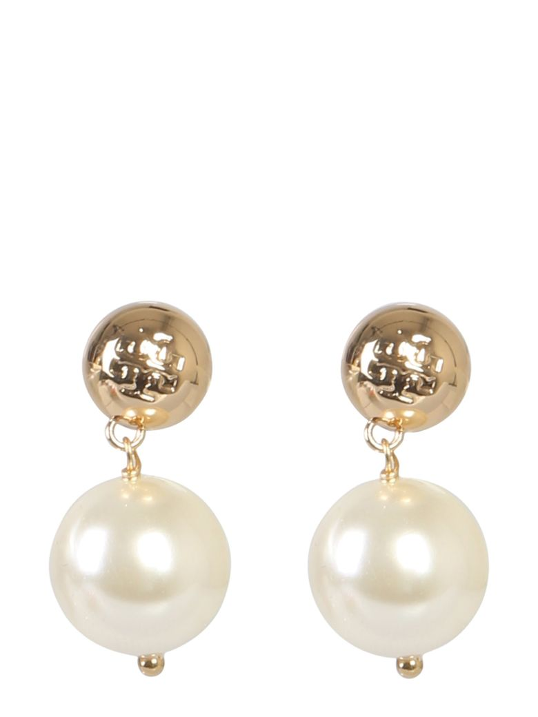Tory Burch Earrings With Pearl Pendant - ORO