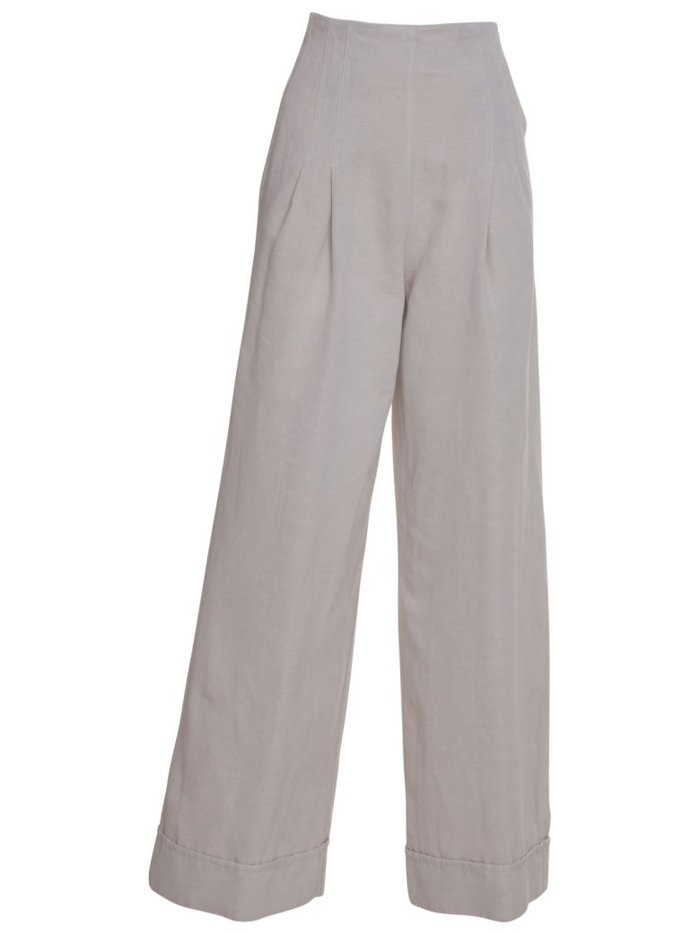 Stefano Mortari Wide Leg Trousers - BEIGE