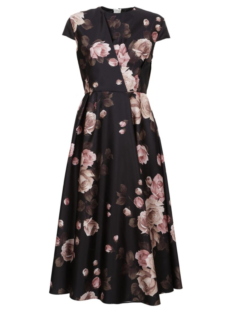 Rochas Floral Dress - Black fantasy