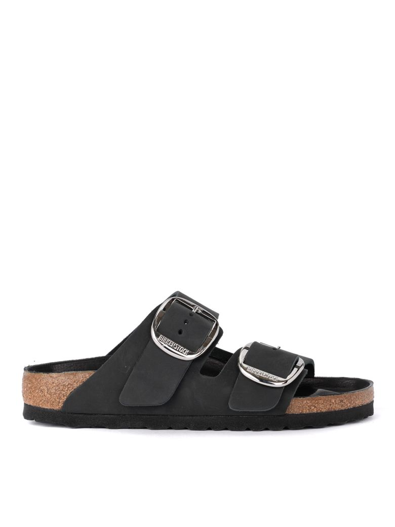 Birkenstock Arizona Big Buckle Black Leather Sandal - Premium - Black