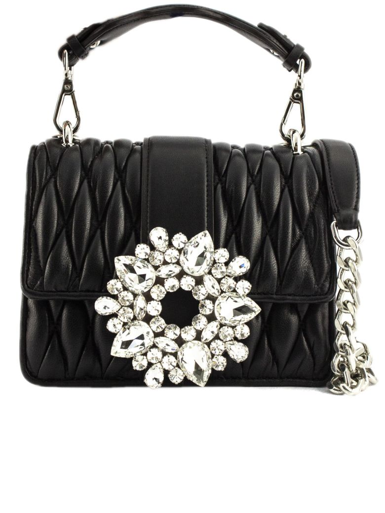 Gedebe Gio Broche In Black Leather - Nero
