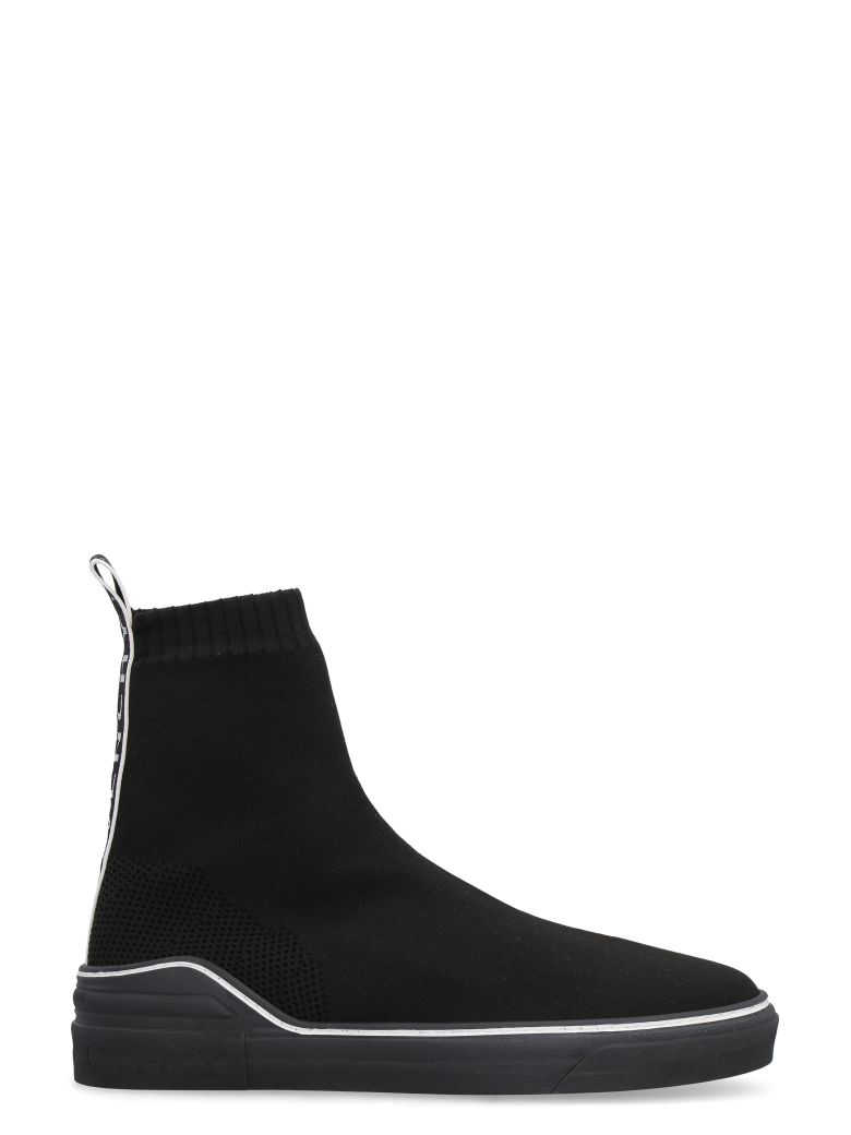 Givenchy George V Knit High-top Sneakers - black