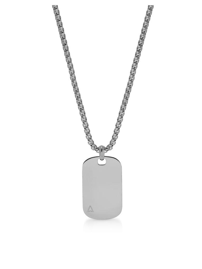 Northskull Id Tag Necklace Gunmetal - Silver