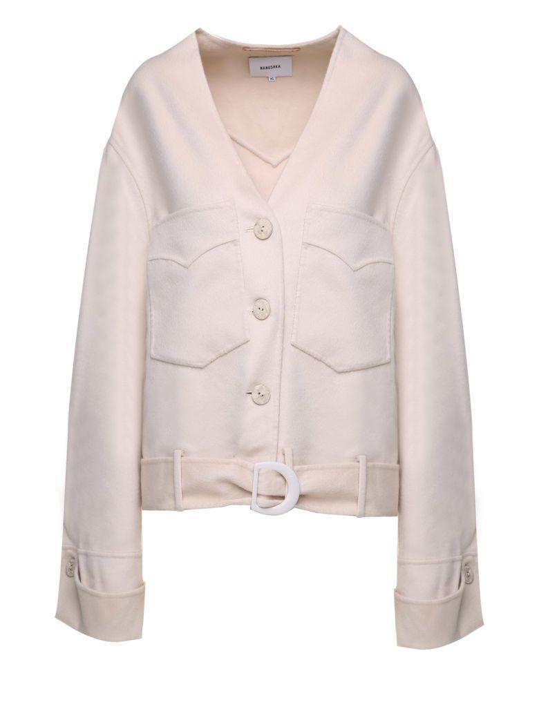Nanushka Iman Silk And Wool-blend Jacket - Rosa