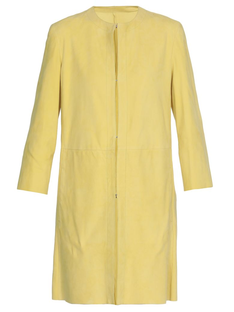 DROMe Leather Overcoat - YELLOW