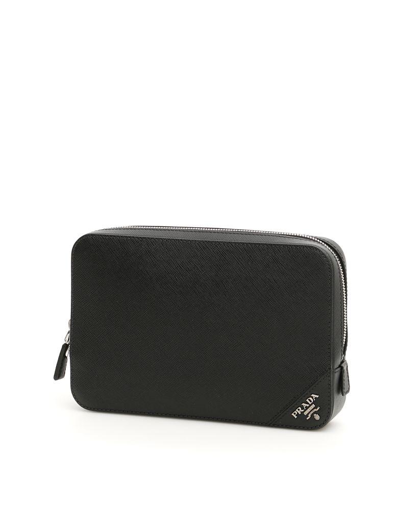 Prada Single Zip Pouch - NERO (Black)