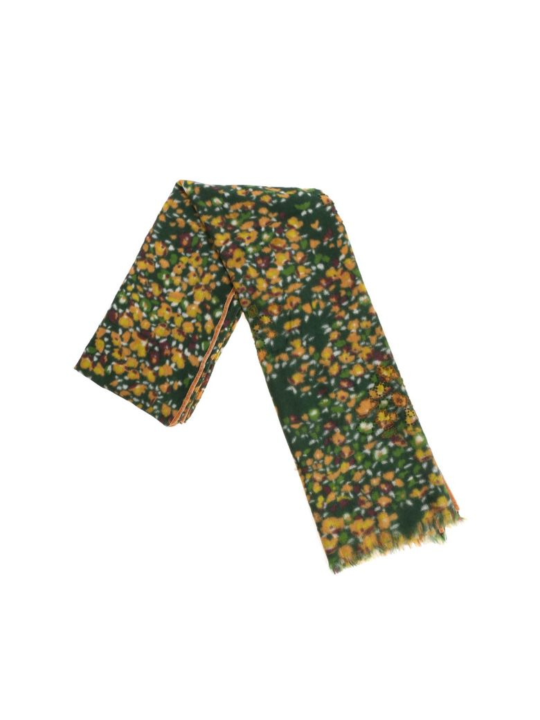 Altea Floral Pattern Scarf - Green