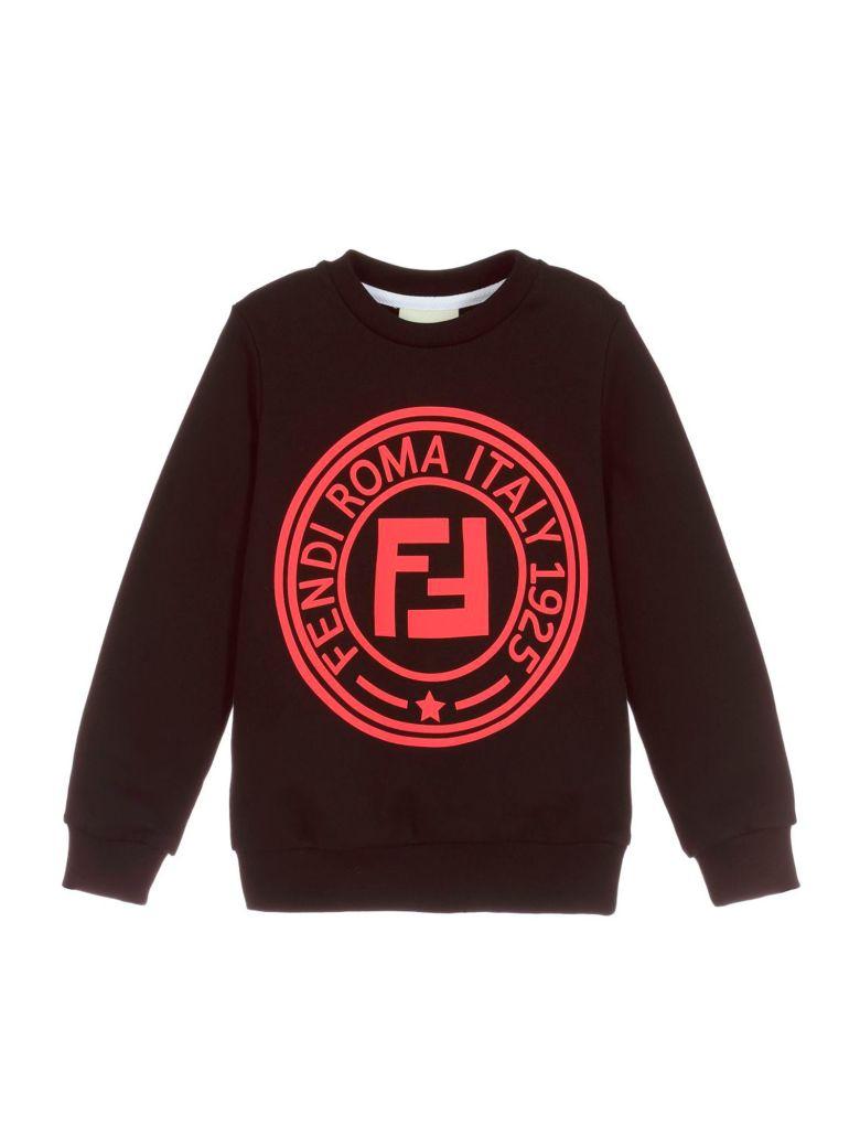 Fendi Black Sweatshirt Girl - Nero