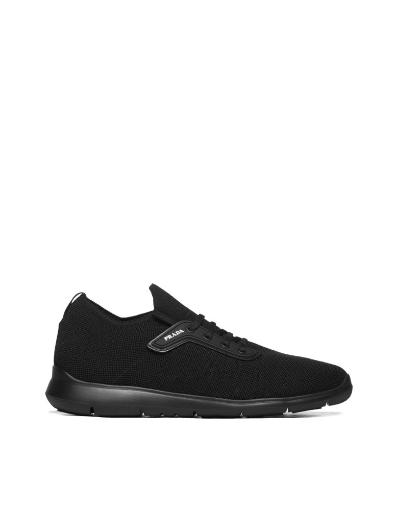 Prada Linea Rossa Technical Fabric Sneakers - Nero